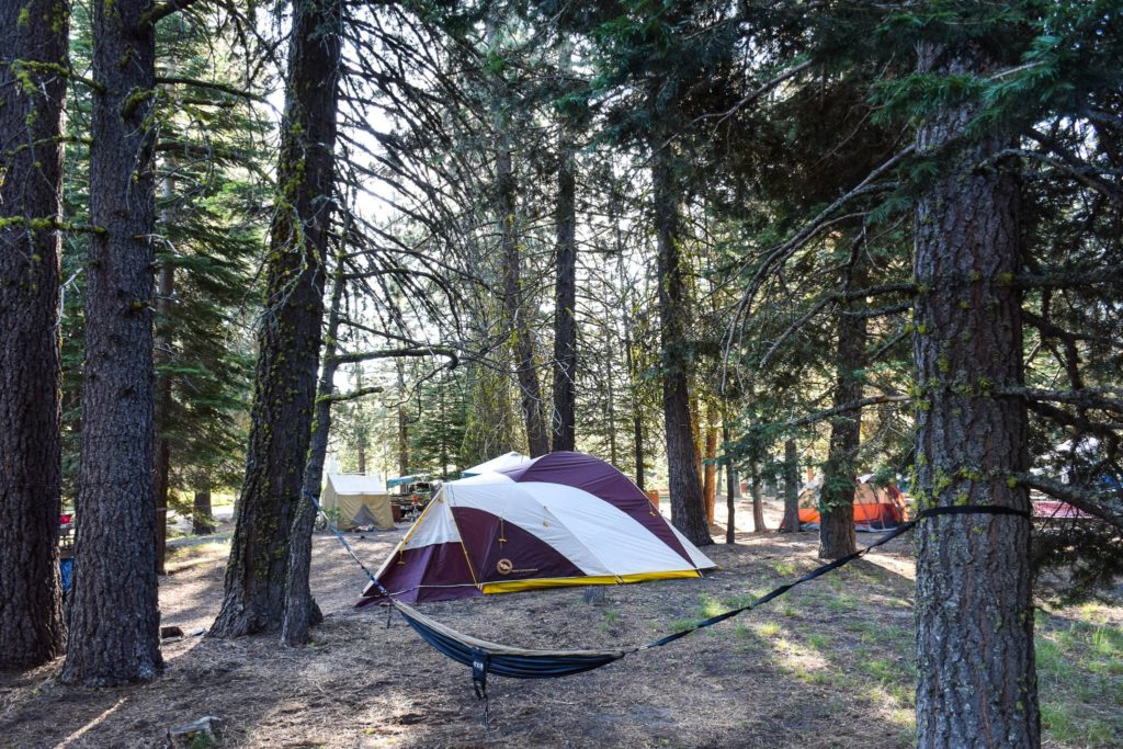 Tent Camping in Manzanita Lake Campground is one of the 3 must do things at Lassen Volcanic