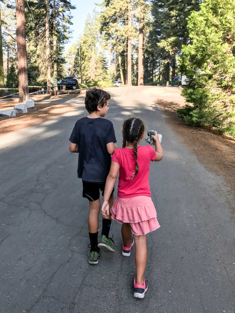 Walking the campground