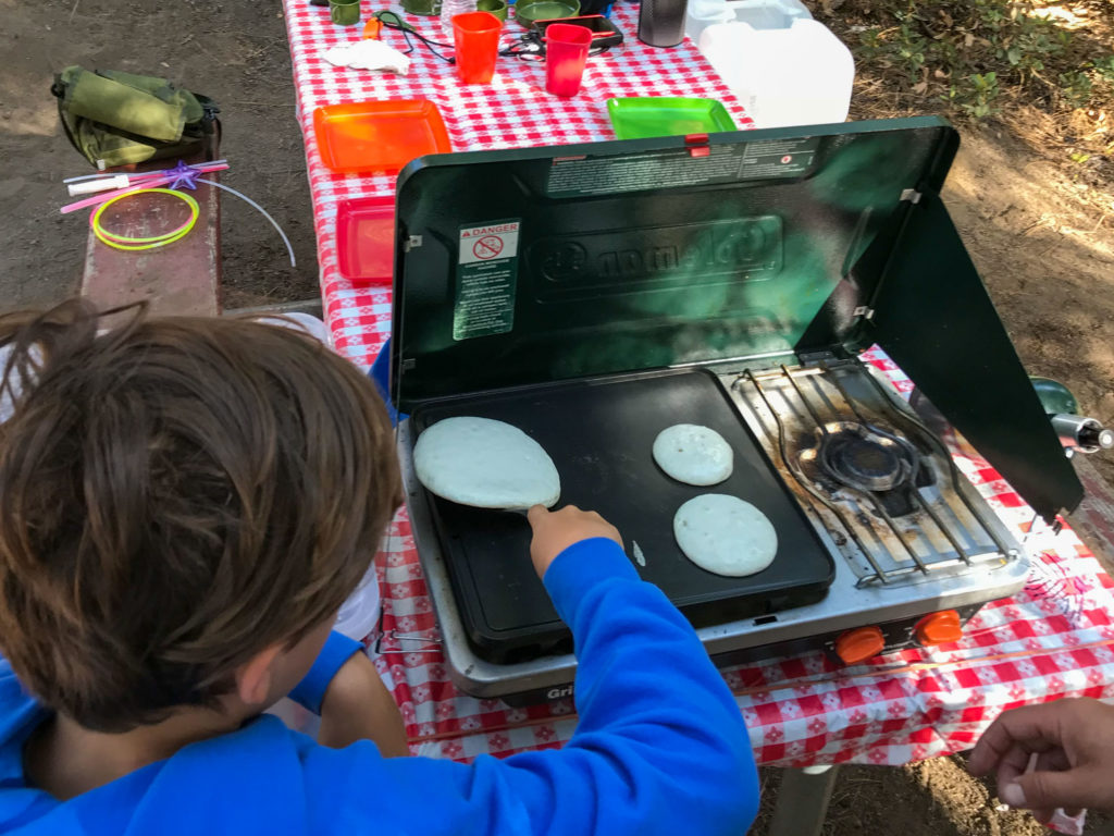 Kids Cooking at the Campsite