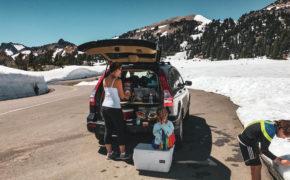 Car camping road trip
