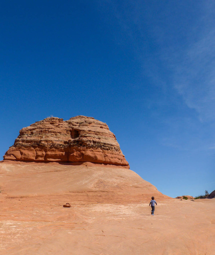 Photo of Kid hiking the Delicate Arch Trail