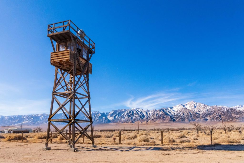 Photo of guardtower at Manzanar National Historic Site