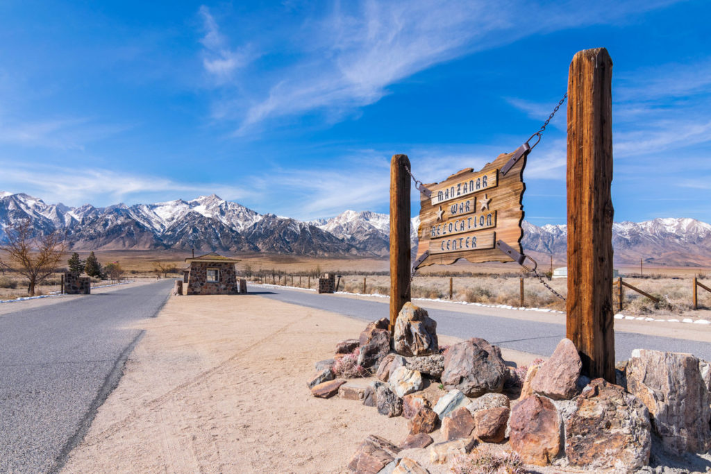 Photo of Manzanar Entry Sign