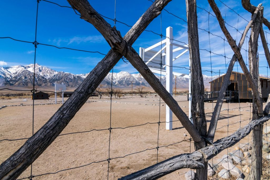 Photo of Basketball court at Manzanar National Historic Site