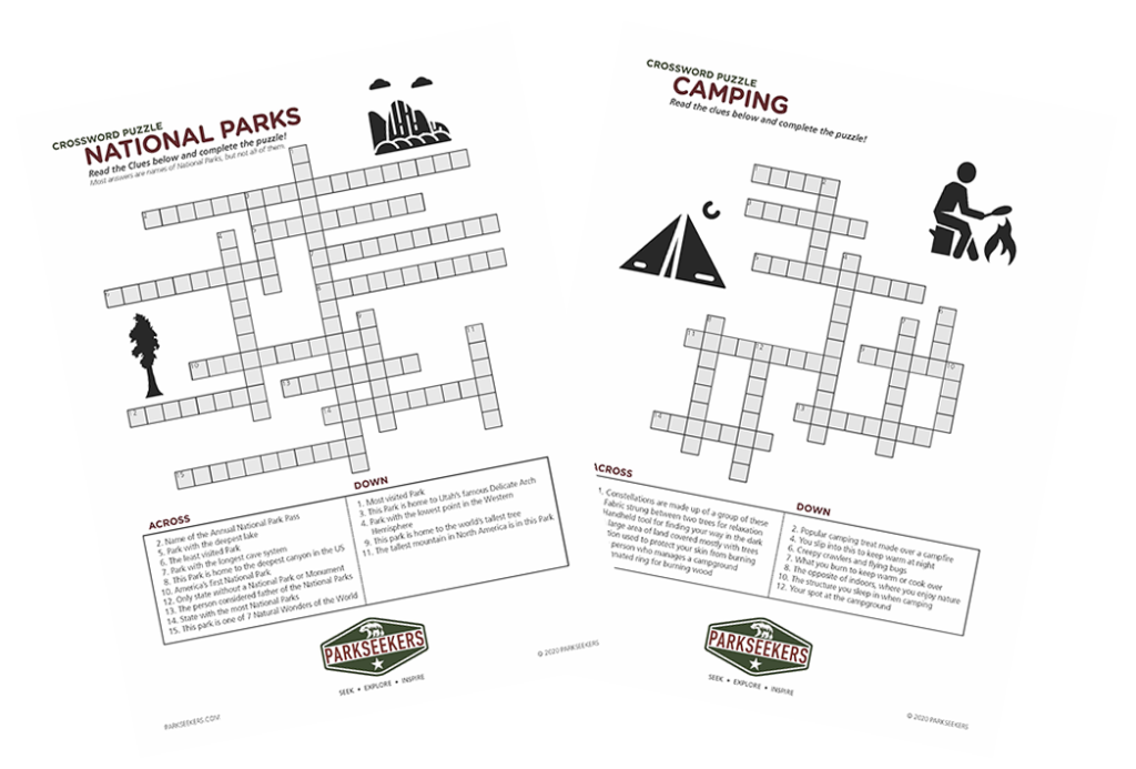 Image of Parkseekers Crossword Puzzles